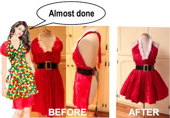 make holiday apron 10