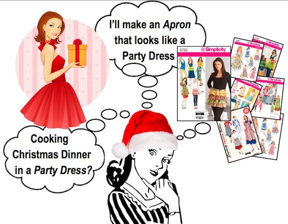make holiday apron 1a