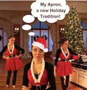 Christmas apron, make an apron, how to make an apron, make holiday apron, make Christmas Apron