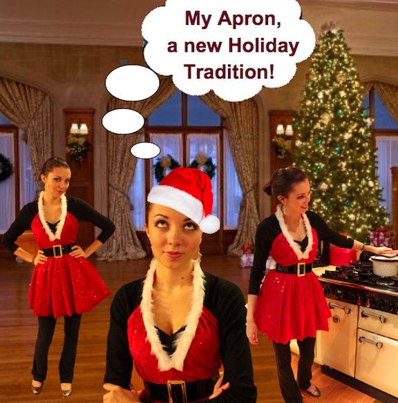 make holiday apron 1